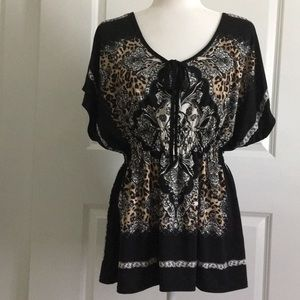 Claudia Richard top/blouse. Animal print